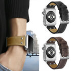For Apple Watch Series 1 2 3!Stitched Genuine Leather Bracelet Wristband+Buckle