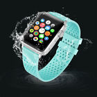 Ventilate Silicone Rubber Replacement Wristband Strap For Apple Watch 1 2 3 Gen