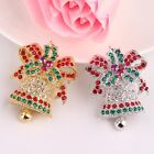 Xmas Creative Gifts Europe Retro Exquisite Small Bell Pin Accessories Ornaments