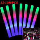 12-1080Pcs Multi-color Light-Up DJ Flashing Foam Sticks LED Rally Rave Batons US