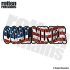 Coal Miner Decal American Flag USA United States Gloss Sticker HGV