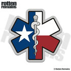 Texas State Flag Star of Life Decal TX Texan Paramedic EMT EMS Gloss Sticker HGV