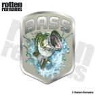 Bass Masters Fishing Decal Largemouth Fish Fishing Boat Gloss Sticker HGV
