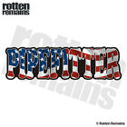 Pipefitter Decal American Flag USA United States Gloss Sticker HGV