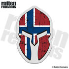 Norway Flag Spartan Helmet Decal Norwegian Nordic Gloss Sticker HGV