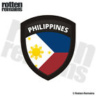 Philippines Flag Shield Decal Badge Car Motorcycle Gloss Sticker V2 HGV