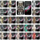 "For Alcatel One Touch Idol 3 (5.5"") Hard Case Hybrid Camo Design Black Stand"