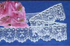 "White Lace Trim 12-24 Yard Scallop 1-1/4"" Bows O71V US Made Added Trims ShipFree"