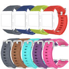 For Fitbit Ionic!L/Small Scale Pattern Silicone Watch Wristband Bracelet Bangle