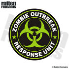 Zombie Outbreak Response Unit Green Decal Control Team Gloss Sticker HVG
