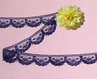"Purple Lace Trim 16-32 Yards Doll Trim 5/8"" Scalloped J64AV Added Trims ShipFree"