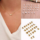 2017 Women 26 Letters & Heart-shaped Pendant Lovers Necklace Charm Jewelry Gifts