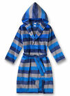 Sanetta TEEN BOYS ROBE TERRY FLEECE VELOUR STRIPES 140-176 - Blue/Grey