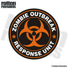 Zombie Outbreak Response Unit Orange Decal Control Team Gloss Sticker HVG