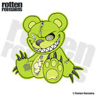 Zombie Teddy Bear Decal Green Dead Cute Zombies Gloss Sticker (LH) HVG