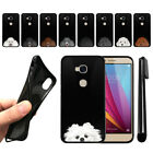 For Huawei Honor 5X/ Sensa 4G H710VL Dog Skins Black SILICONE Case Cover + Pen