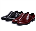 Mens real Leather Pointed Toe Dress Formal wedding party Shoes