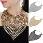 Vintage Jewelry Chain Shiny Crystal Bib statement Collar  Necklace Choker Charm