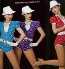 Dance Costume Tap Jazz Skate Romper show it off