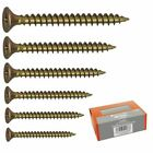 Pack of Steel Countersunk Phillips Head Steel Screws Wood Chipboard Various Size