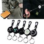 Steel Rope Tactical Keychain Retractable Camping Outdoor Anti Thief Key Chain LA