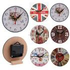 New Prints Pattern Creative Vintage Style Living Room Bedroom Clock B20E