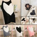 Cute Kids Baby Napping Blanket Heart Bedding Towel Cover Throws Wrap Soft 97k AU