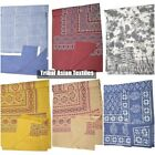 Cotton Queen Block Print Bedspread Hippie Bohemian Gypsy Tapestry Bedding Multi