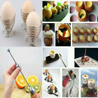 Stainless Steel Kitchen Gadget Hotel Egg Shell Cutter Topper Tool/Egg Cup Holder