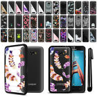 For Coolpad Defiant 3632 Hard Clear TPU Black Bumper Phone Case Cover + Pen
