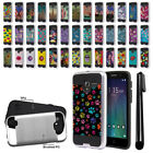 "For Alcatel TRU 5065 Stellar Pop 3 5"" Brushed Hybrid Protector Cover Case + Pen"