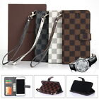 Luxury Fashion Deluxe Leather Wallet Flip Case Cover For Apple iPhone X 7 8 Plus