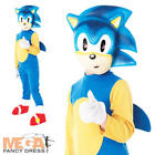 Sonic The Hedgehog Kids/Boys Fancy Dress Video Game Costume Child Ages 3-8 Y