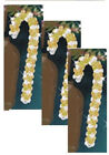 """""""Beaded Candy Canes"""" Red  Purple OR Gold Tri-beads  new kit makes 3 ornament"""