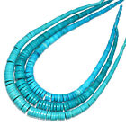 4-14mm Beautiful Turquoise Heishi Bead Native American Navajo Style Necklace 21""