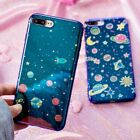 blue Ray Space planet TPU Phone Case For iPhone 7 7Plus 6 6S Plus 8 8Plus X