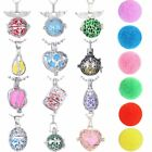 Fashion Aromatherapy Essential Oil Diffuser Pendant Locket Necklace + 6pcs Balls