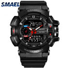 Men Sport Watches LED Digital Analog Alarm Date Day Waterproof Dual Time Quartz