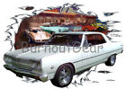 1965 White Chevy Chevelle Custom Hot Rod Diner T-Shirt 65 Muscle Car Tees