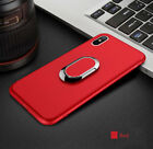 Luxury Magnetic Car Holder Ring Stand Phone Case Slim Matte Cover For iPhone X 8