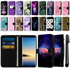 "For Samsung Galaxy Note 8 N950 6.3"" Slim Canvas Wallet Pouch Case Cover + Pen"