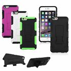 Hybrid Heavy Duty Car Armor Stand Hard Cover Case For Apple iPhone 6 6S Plus 5.5