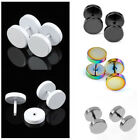8mm 18G Stainless Steel Barbell Ear Studs Ear Expander Stretcher Plugs Earrings