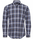 Boss Hugo Boss Black Label Men's Blue Mason Check Slim Fit Button Front *