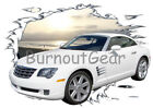 2005 White Chrysler Crossfire Custom Hot Rod Sun Set T-Shirt 05 Muscle Car Tees $21.99 USD on eBay