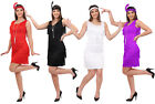 LADIES FLAPPER FANCY DRESS 1920'S COSTUME FRINGED GATSBY CHARLESTON S M L XL XXL