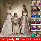 Maxi long sash ruched bridesmaid dress flower girl dress + crinoline + sash