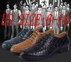 Fashion British casual shoes real leather shoes Crocodile Pattern Oxford Shoes