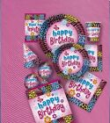 WILD BIRTHDAY Party Items (Tableware, Balloons and Decorations) (1C)