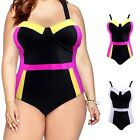 Women's Retro One Piece Swimsuit Plus Size Padded Halter Vintage Swimsuit